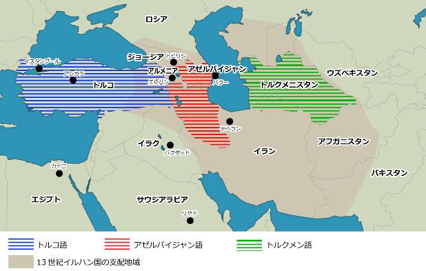 トルコとアゼルバイジャン 位置関係